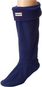 Hunter 253566 Womens Boot Socks Navy Crew Cut Socks Shoes Size L