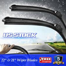 "22"" + 21"" Inch Bracketless OEM Quality Windshield Wiper Blades J-HOOK All Season"