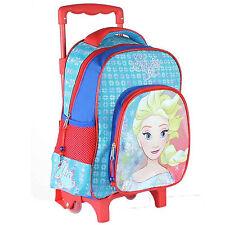Trolley Asilo Frozen Elsa Anna DIM. 31 x 27 x 10 cm Spallacci imbottiti Disney