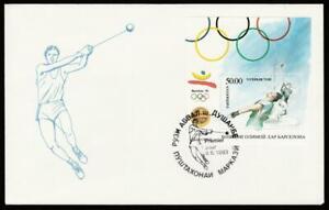 TAJIKISTAN 1993 SPORT OLYMPICS BARCELONA'92 FIRST DAY COVER