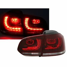 2 FEUX ARRIERE LED VW GOLF 6 BERLINE 10/2008 A 10/2012 ROUGE BLANC LOOK GTI R