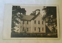 Early Real Photo Postcard OLD SCHOOL HOUSE WINSLOW INDIANA