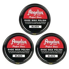 Angelus Shoe Wax Polish Black 3 Pack