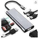 Usb C Hub 9 In 1 Multiport Adaptor Macbook Windows Triple MST Display 4K Hdmi