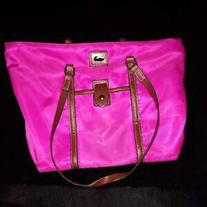 Dooney & Bourke Pink Nylon & Leather Bag Tote