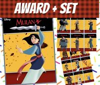 topps collect Disney Mulan Motion Cards Award + Set (14+1) Cards 2020