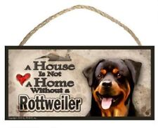 """Rottweiler """"A House is Not a Home"""" Dog Sign / Plaque featuring the art of Scott"""