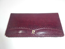 Vintage 1960'S Dover Alto Estilo Burgundy Leather Hand Bag Clutch England