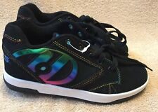 Heelys Propel 2.0 Boys Black 770844 Wheeled Shoes Youth Size 4 Black/Metallic