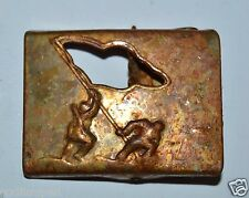 WOW WWII Vintage Iwo Jima Rasing the US Flag ARMY Unifrom Brass Belt Buckle Rare