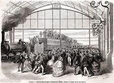 Milano: Arrivo di Garibaldi e del Corpo Volontari Italiani. Risorgimento. 1866