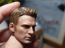 1/6 Captain America's Head Carving Chris Evans Suitable for Encapsulating Muscle