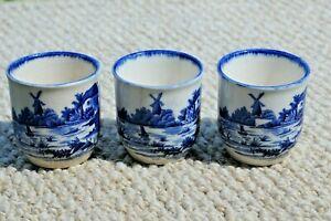 "3 Royal Doulton ""Norfolk"" design Egg Cups 1930's  Rg No 251612  Rg No 597783"