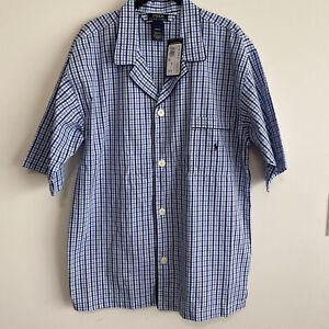 New Polo Ralph Lauren Men Size M Short Sleepwear Top Nightshirt