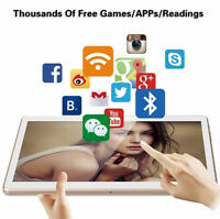 """10"""" 8-Core Android 5.1 1G+16G Tablet PC IPS Touch Screen 3G Phablet White"""