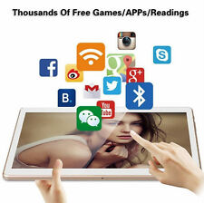"10"" 8-Core Android 5.1 1G+16G Tablet PC IPS Touch Screen 3G Phablet White"