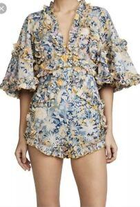 Alice McCall   Sz Aus 6   Choose Me Cotton Playsuit   Floral