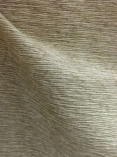Drapery Upholstery Fabric Textured Woven Cotton Stripe Raw Silk Look - Olive