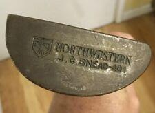 Vintage Northwestern JC Snead 401 Putter Golf Club Steel Shaft Bronze Finish