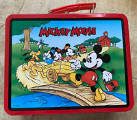 Mickey Mouse 1997 Disney Series #2 School Bus Lunch Box Goofy Donald Pluto Daisy
