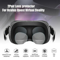 2 Pair VR Lens Protector Film Sticker Parts for Oculus Quest /Oculus Rift S VR G