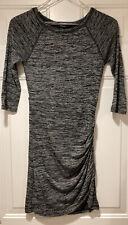 Forever 21 Black/Grey Heathered Long Sleeved Dress Size M