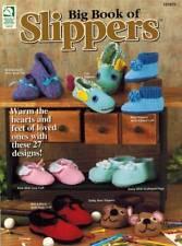 Big Book of Slippers 27 Crochet PATTERN Boys Girls Men Woman Matching Family NEW