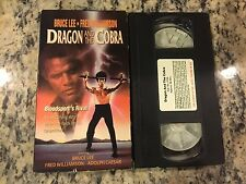 DRAGON AND THE COBRA RARE VHS! MARTIAL ARTS KARATE w/BRUCE LEE, FRED WILLIAMSON!
