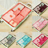 6Pcs Travel Storage Bag Set for Suitcase Clothes Luggage Packing Organizer Eyefu