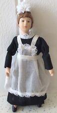 Dolls house miniature 1:12 porcelain maid doll figure - POSEABLE
