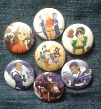 """1"""" pinback buttons inspired  by """"Avatar"""" """"The Last Airbender"""" anime"""