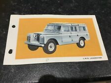 Spot On Triang L.W.B. Land Rover Technical Data Card
