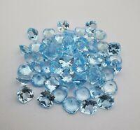 Tallado Cuadrado auténtica piedra natural Sky Blue Topaz 5 Mm Lote 2,20 un