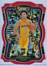 2017-18 NBA Panini Select non auto Red Die-Cut Lonzo Ball Rookie RC /135 Lakers