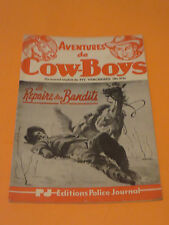 1950's PULP AVENTURES DE COW-BOYS #374 EDITIONS POLICE JOURNAL FREE SHIPPING