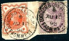 1898 GB Bangor & Crewe TPO From West single circle postmark on piece