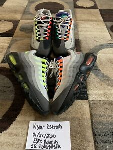 Nike Air Max 95 What The Max Greedy 1.0 OG QS 810374-078 Neon/Orange Grape US9.5