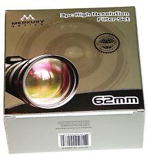 62mm 3P Hi Def Pro Lens Filter Kit UV PL FLD Japan MC Merkury Round 62 mm