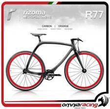 Rizoma R77 MetropolitanBike Bicicletta Telaio Nero Carbonio Ruote Arancio