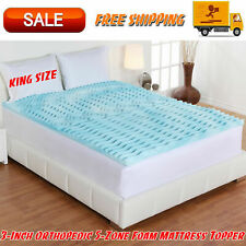 Authentic Comfort 3-Inch Orthopedic 5-Zone Foam Mattress Topper, King Size