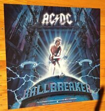 AC/DC Ballbreaker 24x24 original 1995 record store promo poster EAST WEST Angus