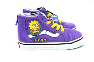 Vans X The Simpsons Sk8 Hi Zip Lisa For President Prez Toddler Size 7.5T New