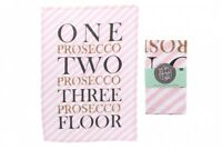 Pop Fizz Cotton Prosecco Tea Towel Slogan Tea Towel Kitchen Gift For Ladies Pink