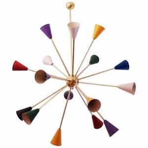 Modern Mid Century Chandelier Sputnik Colorful Vintage Ceiling Light Fixture