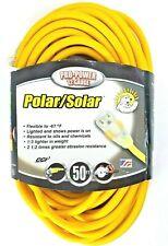 Coleman 50' Electrical Extension Cord Polar Solar Yellow 01688 Sjeow 12/3 15A