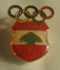2004 ATHENS Olympics LEBANON NOC pin badge