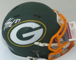 Packers JORDY NELSON Signed Riddell AMP Speed Mini Helmet AUTO -  JSA