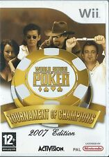 MINT=WORLD SERIES POKER TOURNAMENT OF CHAMPIONS=NINTENDO Wii=2007 EDITION=CARDS