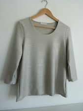 "Ladies Lovely Windsmoor Silver Grey Textured Party Top Size M,Pit~Pit 19""  Vgc"