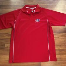 Antigua M Red Columbus Blue Jackets Polo